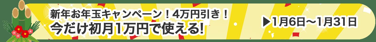 2017年新年お年玉キャンペーン!!初月1万円から!4万円割引き!