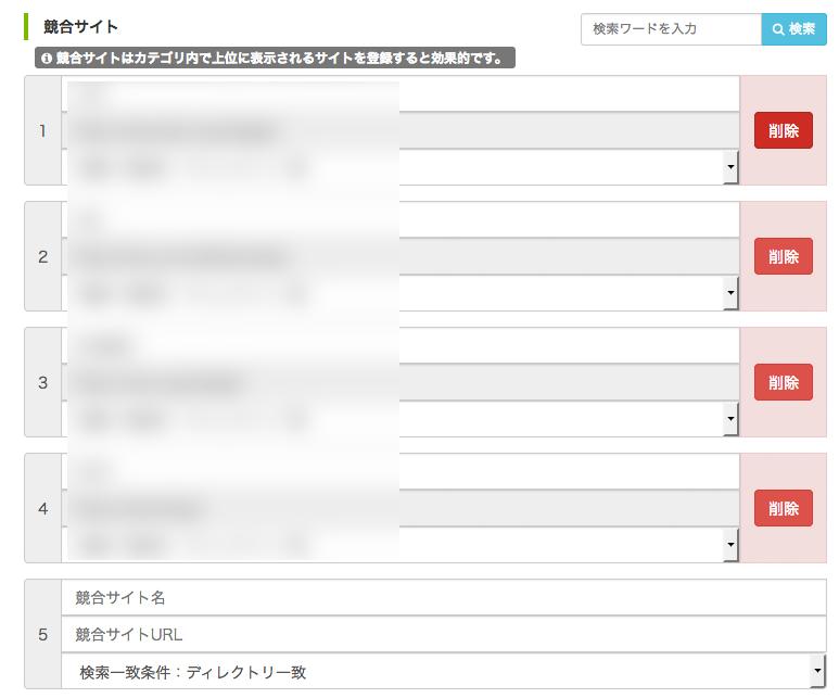 競合サイトの変更・削除・追加