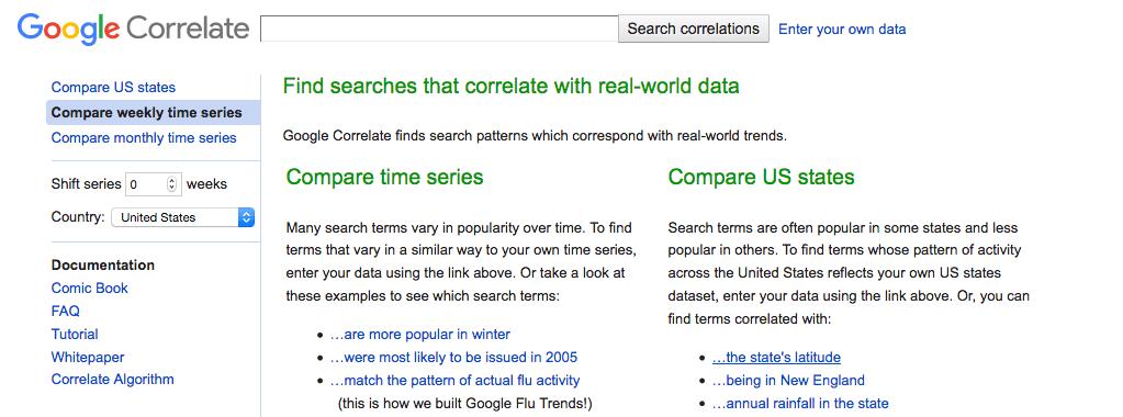 Google Correlateで相関検索